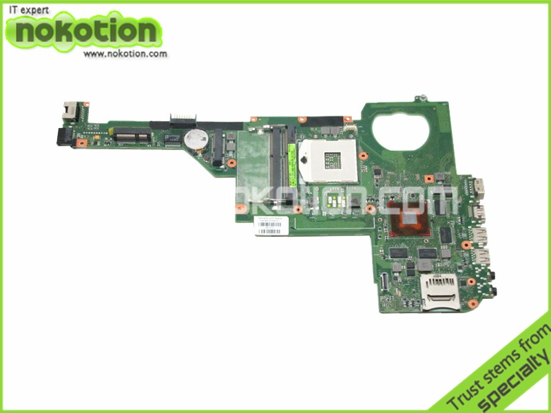 NOKOTION Laptop motherboard For Hp Pavilion dv4-5000 Intel hm77 DDR3 With GeForce GT630M 1gb graphics 676758-001 brand new ddr1 1gb ram ddr 400 pc3200 ddr400 for amd intel motherboard compatible ddr 333 pc2700 lifetime warranty
