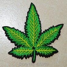 ГОРЯЧАЯ SALL!~~ Зеленый лист холодный утюг на патчи, пришить патч, Аппликации, из ткани, гарантия качества