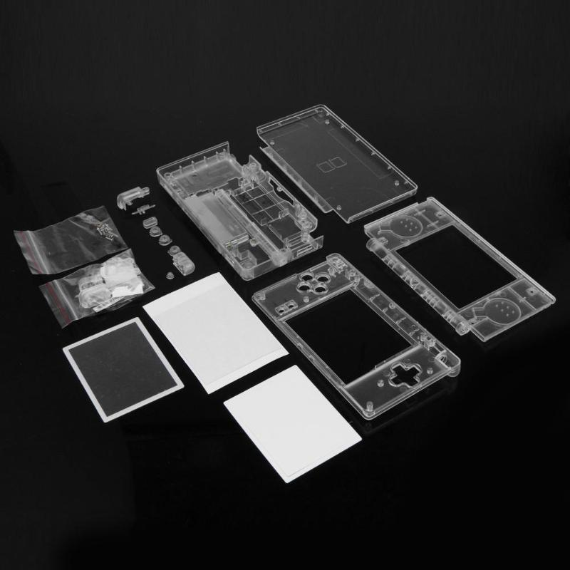 ALLOYSEED 게임 케이스 커버 교체 하우징 쉘 스크린 렌즈 Nintend DS Lite 용 크리스탈 클리어 풀 하우징 케이스 커버