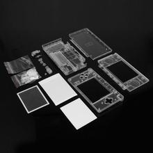 ALLOYSEED Game Cases Cover Replacement Housing Shell Screen Lens Crystal Clear Full Housing Case Cover for Nintend DS Lite