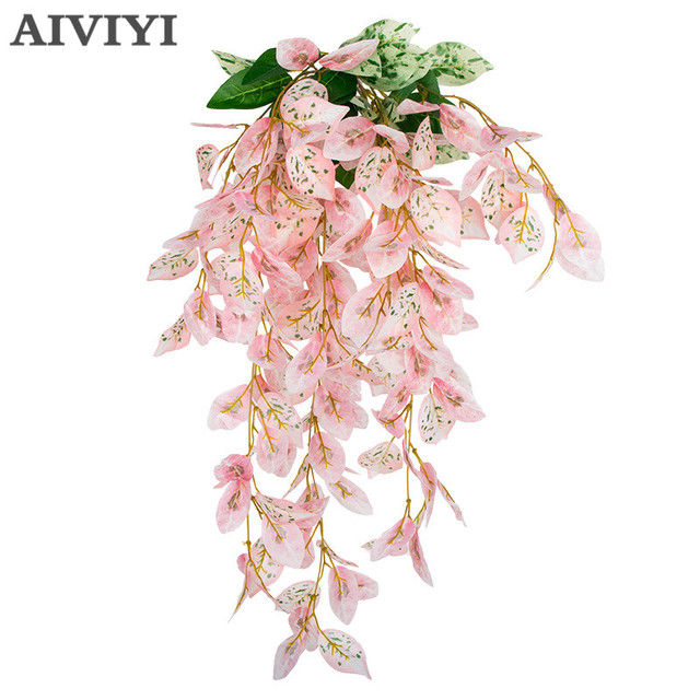 Artificial Flower Bracket Plant Chlorophytum Orchids Rattan Wall