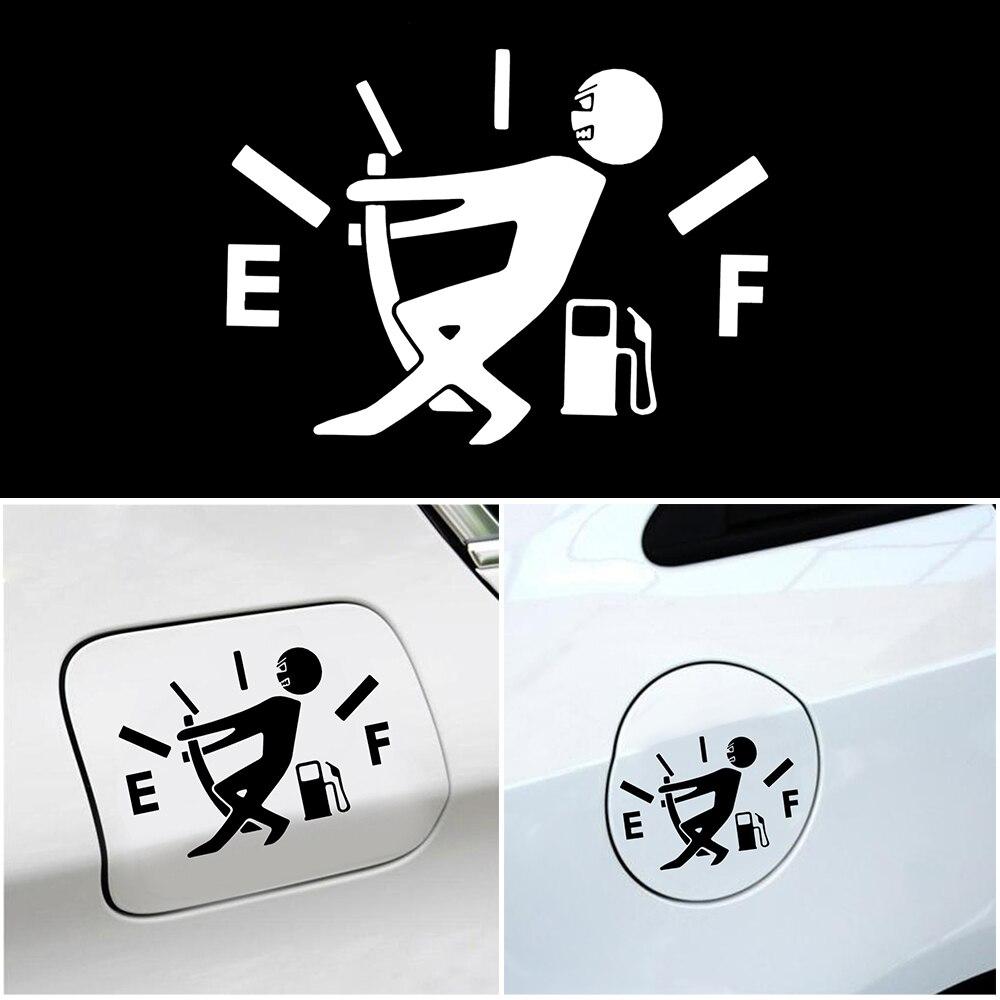 1 Pcs Funny Car Sticker Pull Fuel Tank Pointer To Full Hellaflush Reflective Vinyl Car Sticker Decal Wholesale steering wheel phone holder