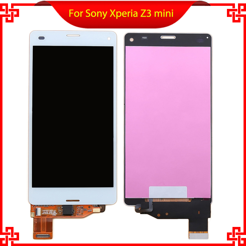 white Black LCD display For Sony Xperia Z3 mini compact D5803 D5833 M55W Touch screen with digitizer glass Assembly 100% original lcd display black touch screen digitizer assembly for sony xperia z3 mini compact d5803 d5833 with tools