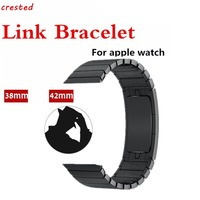 38mm 42mm Stainless Steel Metal For Iwatch Band Link Chain Arc Clasp Luxury Watch Bracelet Strap