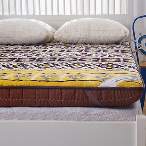 Image 2 - Bohemia style mattress Thick coral velvet tatami single mattress student slip double soft warm bed bedding