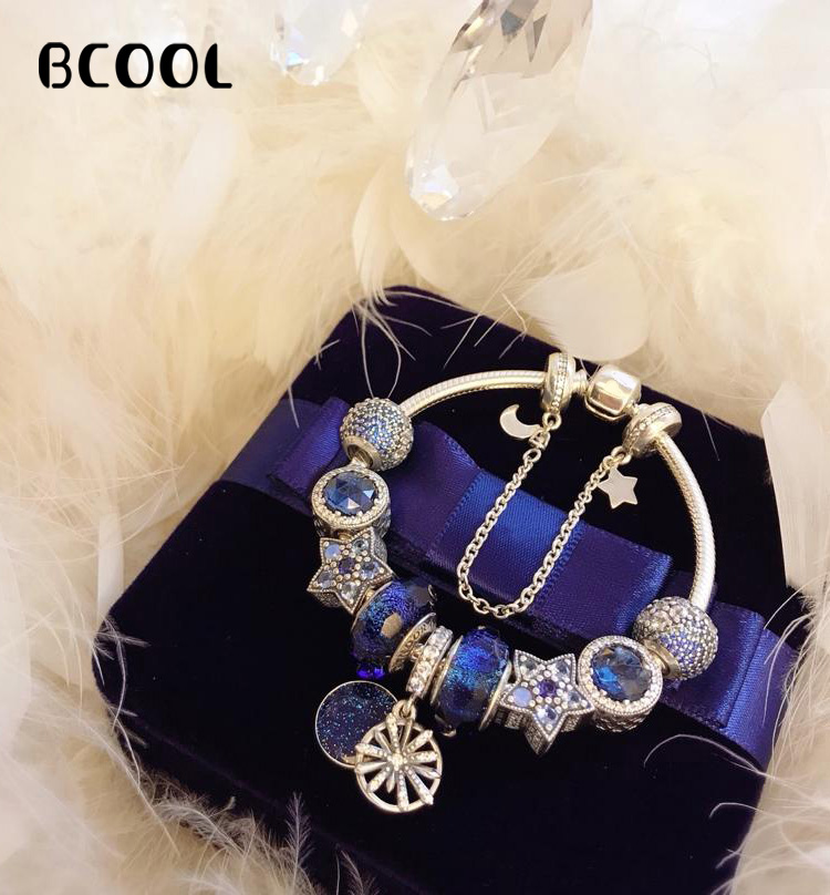Jewelry Female Charm Fashion Silver 925 Original Bracelet, Suitable for Female Crystal Pearl Star Bracelet Jewelry GiftJewelry Female Charm Fashion Silver 925 Original Bracelet, Suitable for Female Crystal Pearl Star Bracelet Jewelry Gift