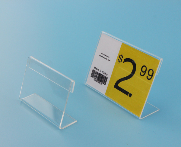 90X60mm 50pcs T 2mmTag ticket card display stand L Acrylic table Desktop Paper Name plate Display & 90X60mm 50pcs T 2mmTag ticket card display stand L Acrylic table ...