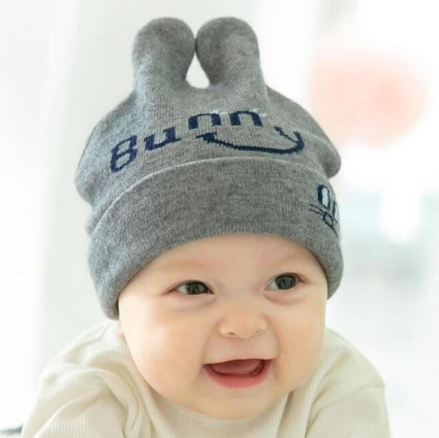 c69efb06dc1 Cute Autumn Winter Warm Baby Hat Woolen Cap Toddler Infant Baby Girls Boys  Knitted Hats Kids