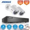 ANNKE 4CH HD 720P TVI 1080N DVR 2pcs 1500TVL Outdoor IR Day Night Security Camera Surveillance