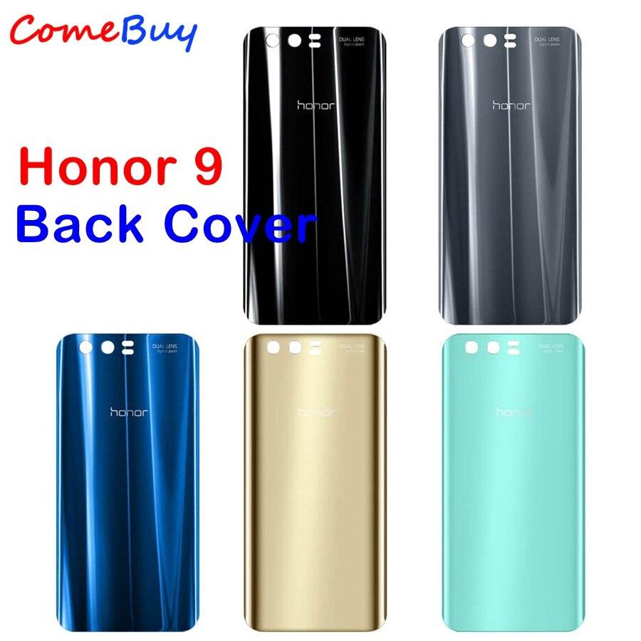 495c9201671 Huawei Honor 9 volver batería de cristal cubierta trasera caja de vivienda  Panel para Honor9 Lite Huawei Honor 9 vidrio trasero reemplazo de la  cubierta en ...