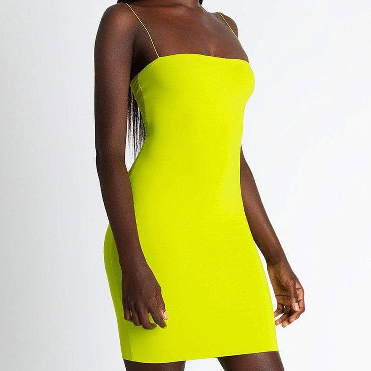 Новинка, горячее предложение, женские летние одноцветные Сексуальные облегающие Мини платья, вечернее платье без рукавов, Клубная одежда, облегающее платье