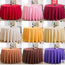 Hotel tablecloth, wedding hotel oil-proof table cloth, restaurant big round tablecloth
