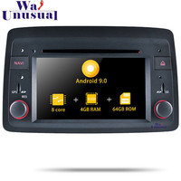 WANUSUAL 7 Inch Android 9.0 Car GPS Navigation For Fiat Panda 2004 DVD CD Player Radio 2 Din Video Octa Core Head Unit Magnitol