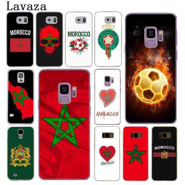Lavaza Morocco Bóng Đá Bóng Đá cờ Cứng Trong Suốt Điện Thoại Trường Hợp đối Với Samsung Galaxy S10 E S10E S8 S9 Cộng Với S6 S7 cạnh Bìa