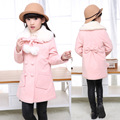 's autumn Children and winter children's woolen woolen coat children's students wool coat long coat thickening