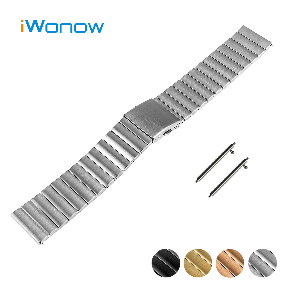 Stainless Steel Quick Release Watch Band 22mm for Samsung Gear S3 Classic / Frontier Folding Buckle Strap Wrist Belt Bracelet купить
