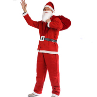 Merry Christmas Clothing 5 Set Santa Claus Clothes Non Woven Adult Male Show Performances Clothing Wholesale