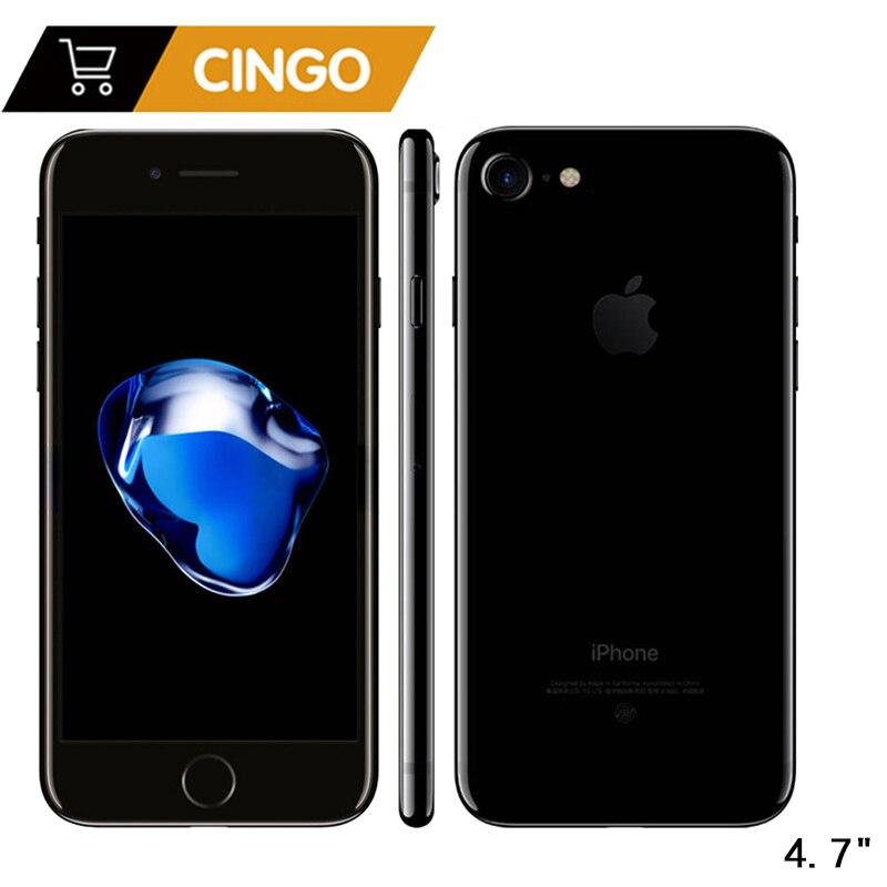 Déverrouillé Apple iPhone 7 IOS Quad Core 32/128 gb/256 gb 12.0MP Caméra D'empreintes Digitales 12MP 2910mA LTE cellulaire Téléphone