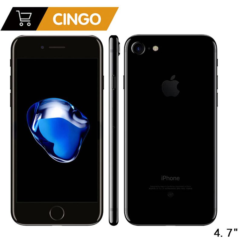 Desbloqueado Apple iPhone 7 IOS Quad Core 32/128 GB/256 GB 12.0MP Cámara huella digital 12MP 2910mA LTE teléfono Celular