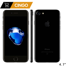 Разблокированный Apple iPhone 7 IOS 4 ядра 32/128 ГБ/256 ГБ 12.0MP отпечаток пальца камеры 12MP 2910mA LTE сотовый телефон