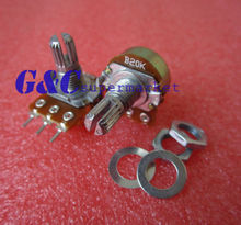 10pcs 50K Ohm B50K Knurled Shaft Linear Rotary Taper Potentiometer