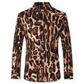 Men Shirts Slim Fit Fashion cotton shirts Male Leopard print shirt Long Sleeve Plus Size shirts size XS-3XL Z1029-Euro size