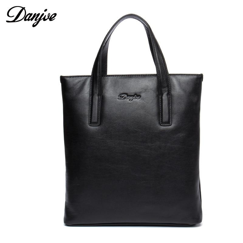 DANJUE Men Handbag Genuine Leather Male Messenger Bag Classic Business Briefcase Trendy Fashion Shoulder Bag Man недорого