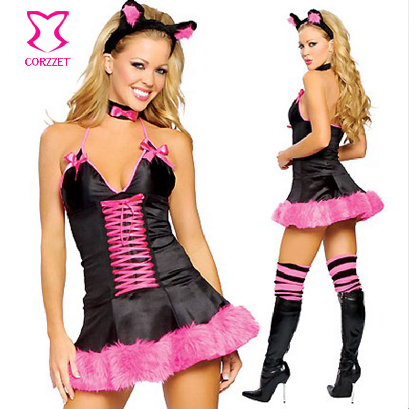 Corzzet Bunny Role Playing Adult Animal <font><b>Halloween</b></font> <font><b>Sexy</b></font> <font><b>Lingerie</b></font> Burlesque Costume Carnival Sleepwear Women Fancy Dress Fantasias image