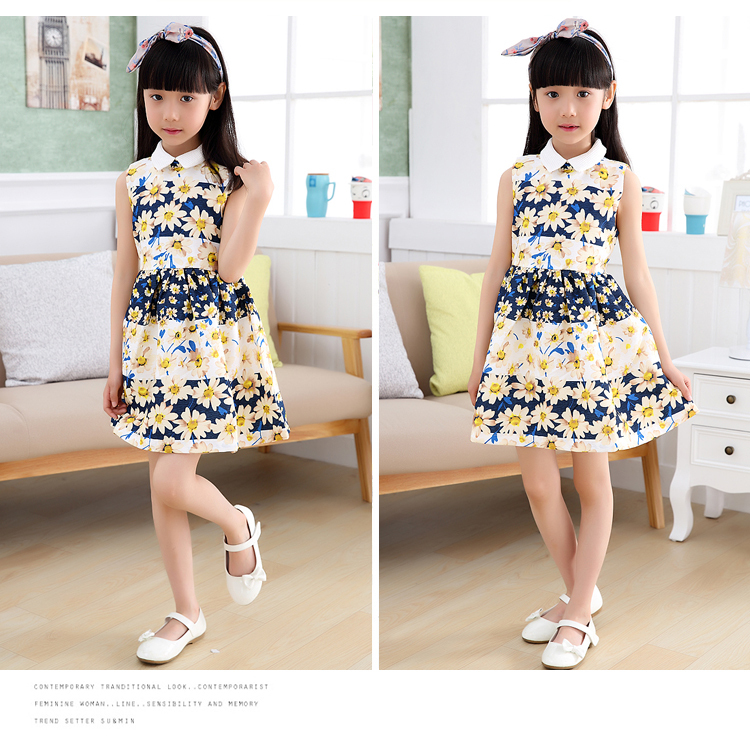 10 Year Girls Children Vintage Clothing Fashion Kids Dress European Clothes Floral Summer For Teenage In Dresses From Mother On