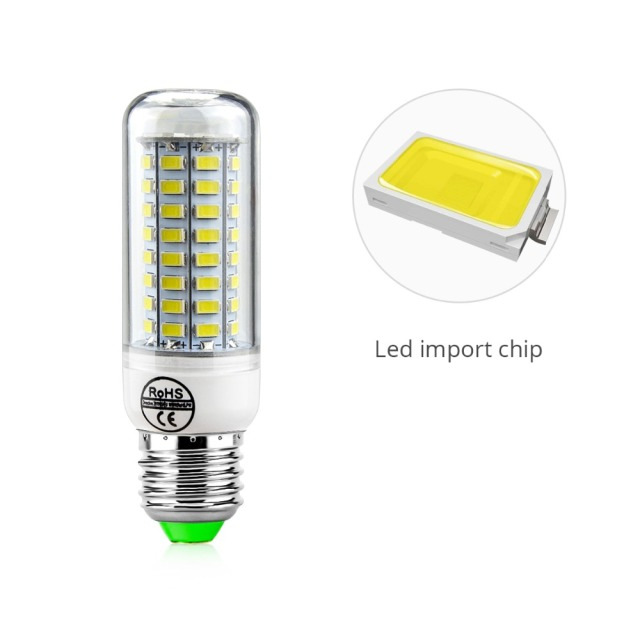 Kitchen LED Light 24 36 48 56 69 72 LEDs 220V E27 E14 Energy Saving Lamp Desk Chandelier Candle LED Lamp For Home Lighting Decor