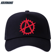 Anarchist War Anarchy Symbol Printed Baseball Caps Summer Outdoor Snapback Hat For Men&Women Punk Rock Casual Cotton Sport Hats