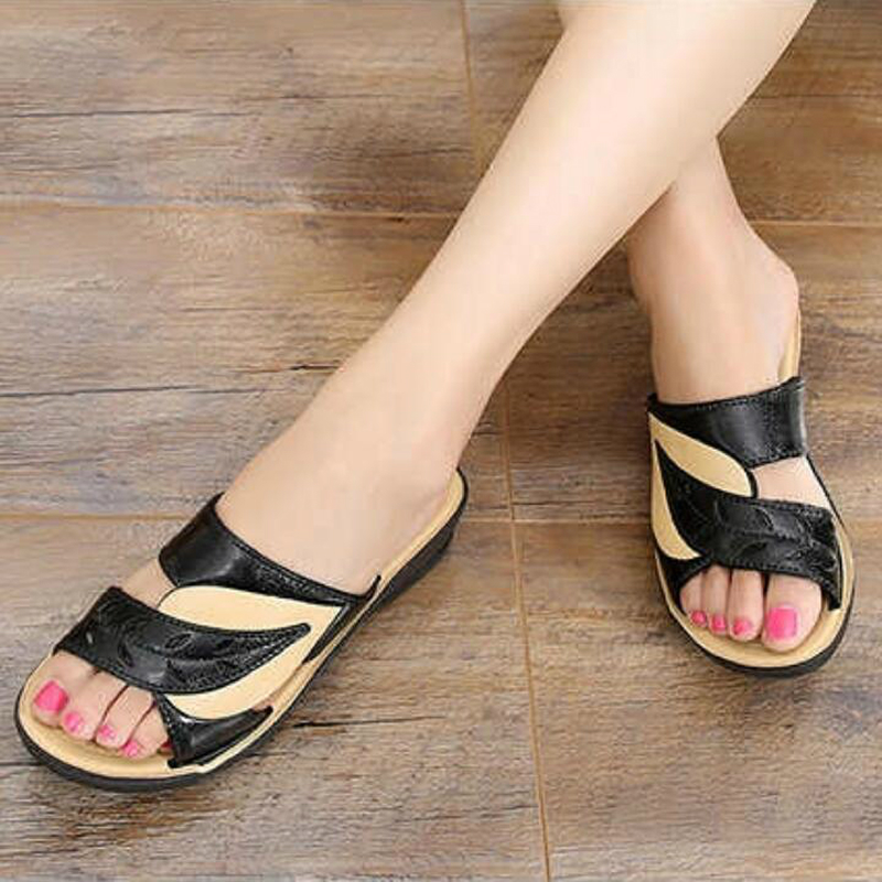 2020 Summer women flat sandals Shoes woman black white beach slippers round toe comfortable sandals flip flops female shoes W01 5