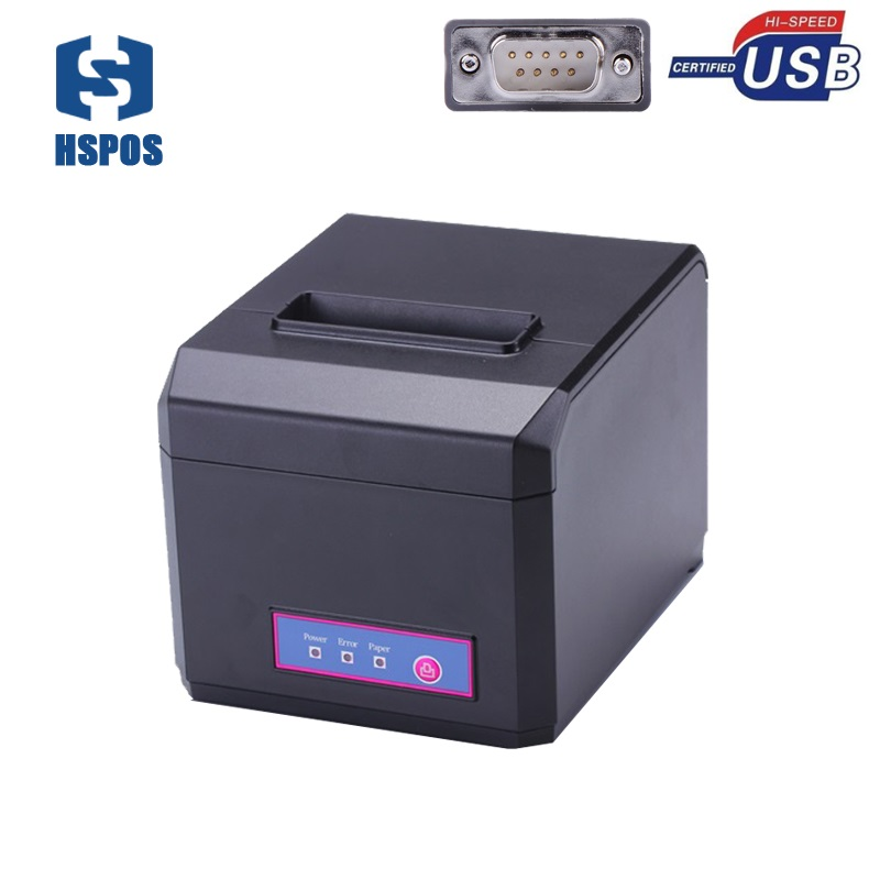 pos 80 printer thermal driver download with auto cutter usb and serial port HS-E81US restaurant order printing slip printer 2017 new arrived usb port thermal label printer thermal shipping address printer pos printer can print paper 40 120mm