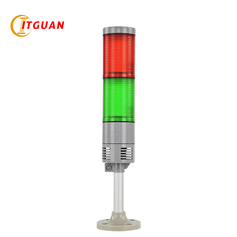 LTA-505A-2 Tower Light Waterproof Multi-layer Lights IP65 For Machine No Sound Round Bottom DC24V 2 Layer lta 505j 2 led warnig light dc12v dc24v ac220v 2 layer industrial strobe tower light alarm light tower light emergency