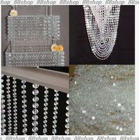 1 roll/30Metes/99Feet/ pack acrylic disk beaded 10mm Iridescent crystal garland strands for chandelier wedding decoration