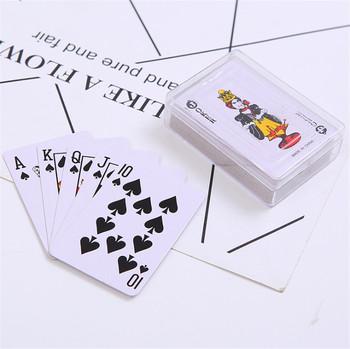 5 7 #215 3 8cm przenośne Mini karty do gry s mały Poker ciekawe karty do gry planszowe gry na zewnątrz podróży z pudełkiem tanie i dobre opinie 6 lat Inne buławy Normalne 111906 0-30 minut Książka Pokrywa karty Podstawowym Papier With plastic box