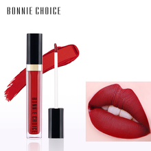 BONNIE CHOICE Lip Gloss Makeup Waterproof Liquid Lipstick Long Lasting Red Color Lip Paint Matte Lipstick