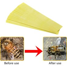 20PCS/Set Fluvalinate Strips Anti Insect Pest Professional Acaricide Against The Ape Mite Strip Beekeeping Medicine Bee