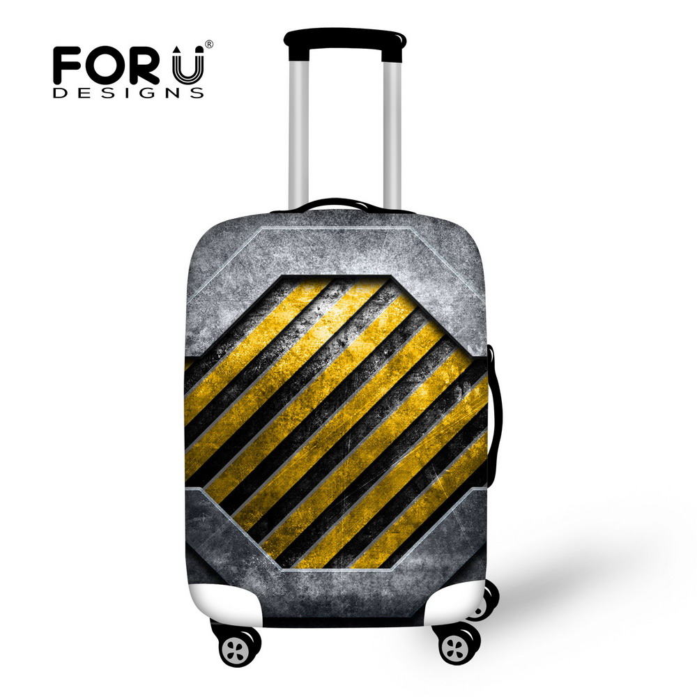 FORUDESIGNS New Arrival Stripe Style Luggage Protective Cover 3DPrint Travel Luggage Cover Suitcase Protective Cover