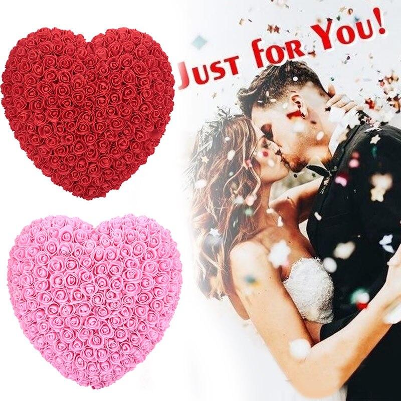 Украшения для свадебной вечеринки розовое большое сердце девушка юбилей пена Свадебный декор День Святого Валентина подарок на день рождения для ребенка
