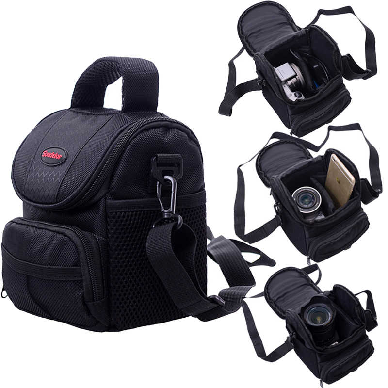Camera Bag Case For Canon EOS 200D 1200D 1300D M50 M100 M10 M6 For Nikon B700 B500 PowerShot G1 X Mark III SX60 SX540 SX70 G5X