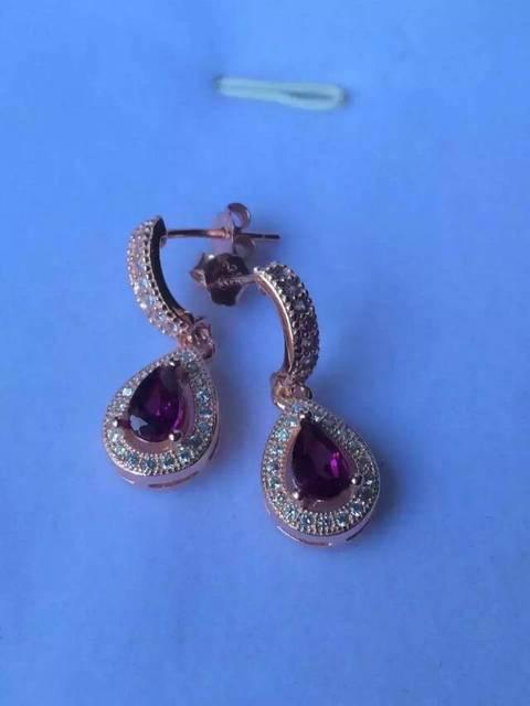 natural red garnet stone drop earrings 925 silver Natural gemstone earring women Fashion water drop Earrings for engagement