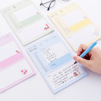 New Lovely Day Week Plan Can Be Torn And Scrapbook Portable Schedule Planning Notes Paper Memo Pad Sticky Note Memo Post It Note plan