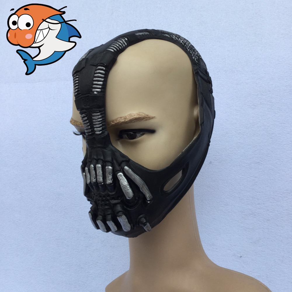 High Quality Cos Bane Mask Cos Batman Dark Knight Mask Halloween Horror costume ball bane Helmet Latex Mask Life Size 11-in Party Masks from Home u0026 Garden ... & High Quality Cos Bane Mask Cos Batman Dark Knight Mask Halloween ...