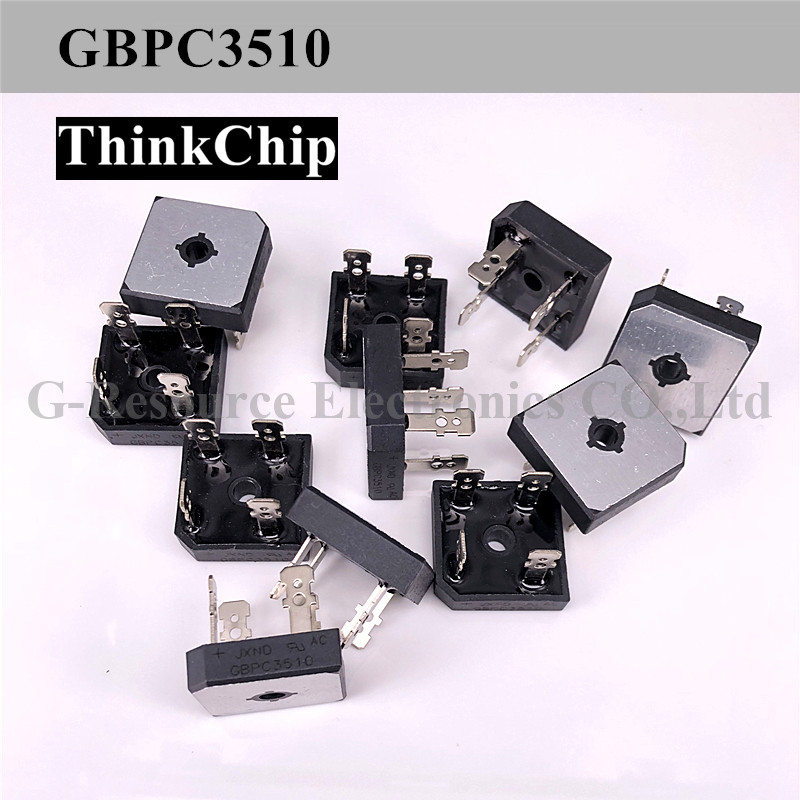 Free Shipping 5 PCS / Lot GBPC3510A Bridge Rectifier Diode, Single Phase, 1 KV, 35 A, Module, 1.1 V, 4 Pins