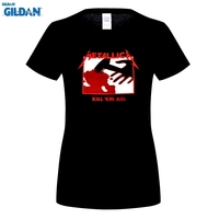 Em Todo Camiseta de la Banda de Rock Metallica Kill GILDAN T-shirt mujeres Unisex camiseta de Algodón Camiseta de Música Ropa de Talla grande