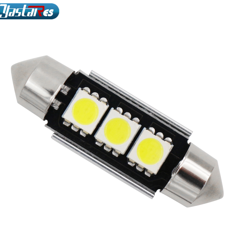 BMW 4 SMD Festoon Canbus 42mm SV8 5 C10W LED CAN-BUS interior Car Bulbs WHITE