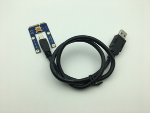 Image 3 - Mini PCI E to PCI Express Extender Riser Card PCIE 1x to 16x Slot USB3.0 Data Cable SATA to 6Pin Power Supply for Bitcoin Mining