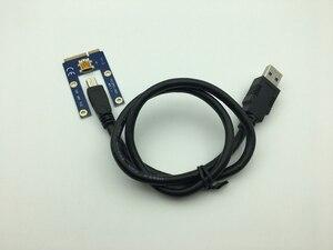 Image 3 - Мини PCI E к PCI Express Райзер карта PCIE 1x к 16x слот USB 3,0 кабель для передачи данных SATA к 6Pin источник питания для майнинга биткоинов