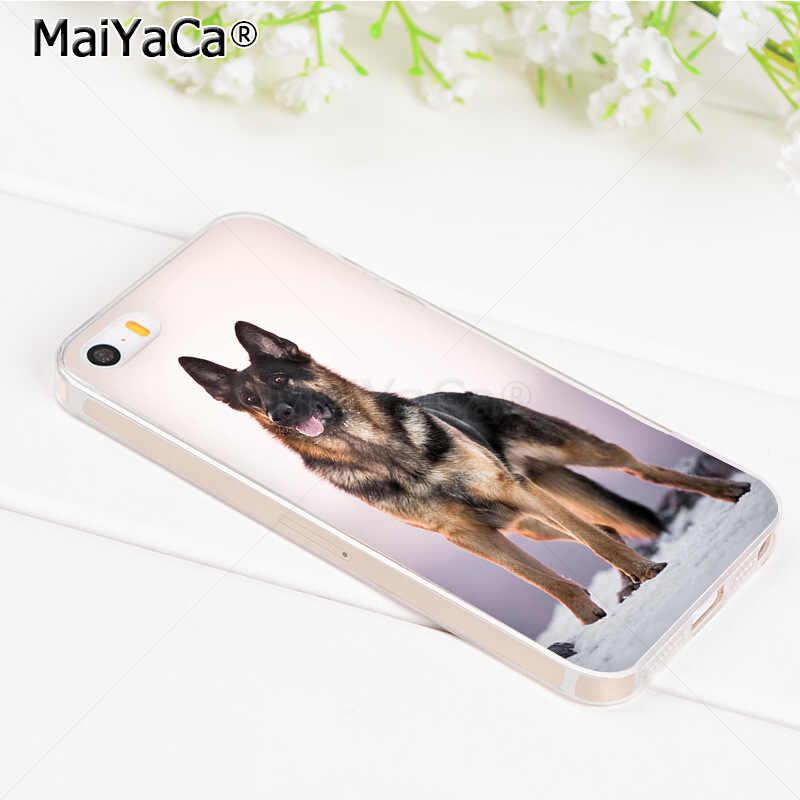 MaiYaCa גרמנית לבן שחור רועה כלב טלפון אביזרי מקרה עבור iPhone 8 7 6 6S בתוספת X 5 5S SE 11pro מקרה כיסוי
